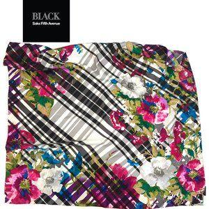 "Saks Fifth Avenue Floral Silk Scarf 34"""